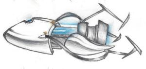 Portal gun I drew last night by GohanLuvVidel