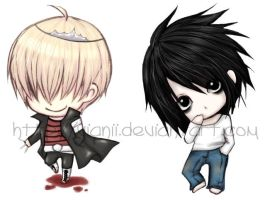 Belphegor and L stickers by vianii