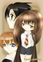 The Trio: Harry Potter by annalouise-art