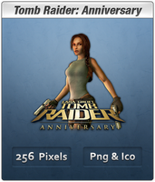 Tomb Raider Anniversary Icon 2 by Th3-ProphetMan
