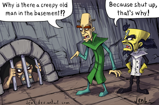 Going N. Sane - Creepy Old Man by JenL