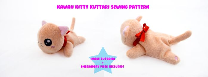 Kawaii Kitty Kuttari Sewing Pattern by PlanetPlush