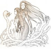 Witchblade cover by Dottwing