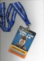 Christian  Kane VIP Pass + Wizard World Lanyard by AnnieSmith
