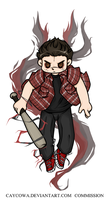 Commission - Teen Wolf - Nogitsune!Stiles by caycowa