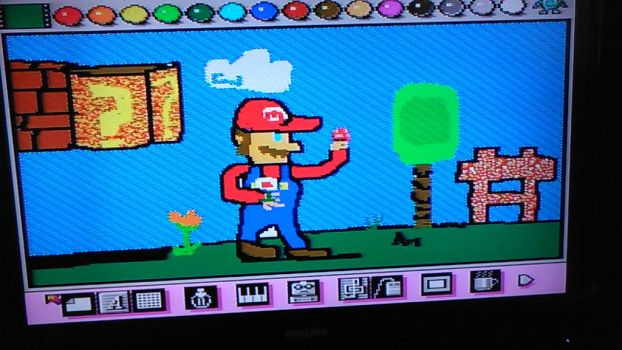 some drawing i did in mario paint by spaghetti-dinner