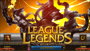 League of Legends - TwitchTV (Video Player Banner) by Crussong