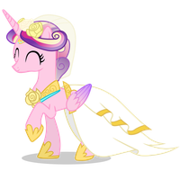 Happy Princess Cadance by 90Sigma