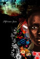 African face 1 by mahmoudz