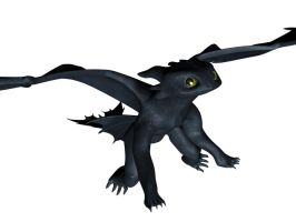 Toothless 3D wip update by Imrus