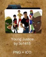 Young Justice Folder by 3o1415