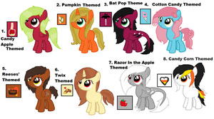 Halloween Filly Adopts - CLOSED by iPandacakes