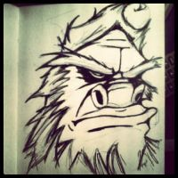 sasquatch sketch by SINGLETON930