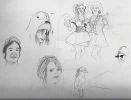 People Sketches by necromancer-seravel