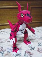 Guilmon Papercraft by nyanperona-chu
