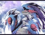 Transforming into Mega Swampert by Lumary92