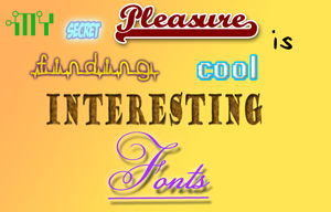 FONTS by OdeeQuack