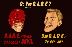 TLIID Daredevil anniversary - Dan Dare + Daredevil by Nick-Perks
