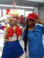 Sailor V and Number 5 by Y0-Mama