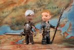 Tiny Dragon Age Companions: Fenris and Anders by liadys