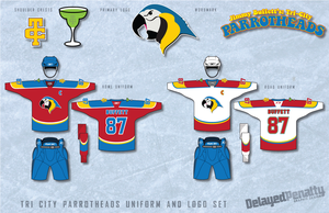 Tri-City Parrotheads Uniforms by delayedpenalty
