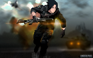 Sasuke in Battlefield 4's cover by UnreaLPiXel