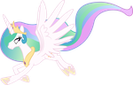 Princess Celestia taking a walk in air by sunran80