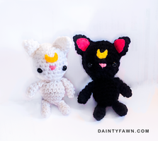 Luna and Artemis Amigurumi Pattern by tiny-moon