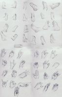 Hands and Feet Study by JordanStoddard