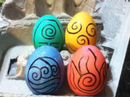 four elements eggs by danni-sanni95