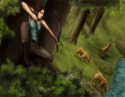 Lara Croft - Survive - Time for lunch by G4r4