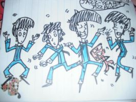 Beatles and Chum Jazzersize by andyboosh4ever