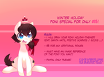 Holiday Themed Pony Commissions now Open! by pekou