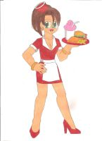Sexy Diner Waitress by animequeen20012003