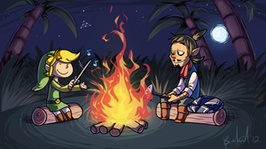 Wind Wakin' by the Campfire by BechnoKid