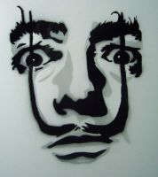 DALI stencil by horrorpopsicle