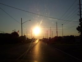 Sunset From The Car by tune4jack