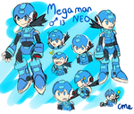 Megaman Neo Reference Sheet (Commission) by CrystalMyu