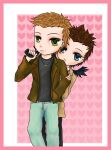 chibi destiel by 770AnimeLuva770