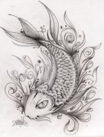 koi fish by jml2art