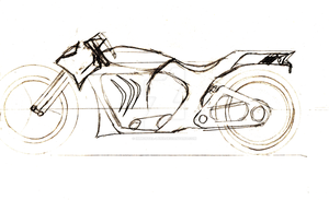 CafeRacer/Streetfighter Motorcycle concept by Immortal-Lynx