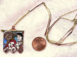 Disney The Little Mermaid Ariel and Eric Necklace by elllenjean