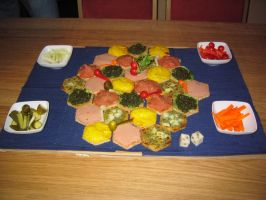 Settlers of Catan to eat by Luluriel