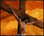 Crucifixion of Jesus Christ (detail) by Bonniemarie