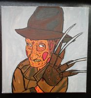 Freddy Krueger painting by FnafFan2000