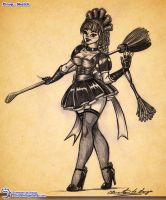 Pinup - 001 Sketch by Elinewton