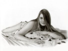 lady in bed by ikoy