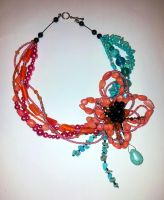 Coral Turqoise Necklace by Svennah