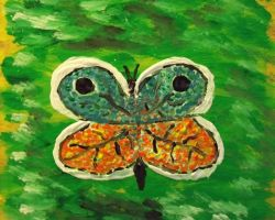 Orange and Bue Butterfly by brokenrose80