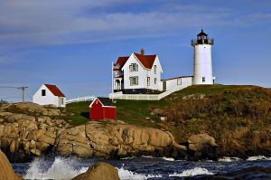 Nubble Light by maxlake2
